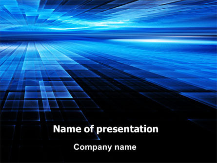 Deep Blue Horizon PowerPoint Template, 07363, Abstract/Textures — PoweredTemplate.com