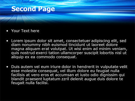 Deep Blue Horizon PowerPoint Template, Slide 2, 07363, Abstract/Textures — PoweredTemplate.com