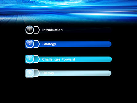 Deep Blue Horizon PowerPoint Template, Slide 3, 07363, Abstract/Textures — PoweredTemplate.com