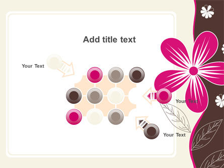 Fuchsia Flower PowerPoint Template Slide 10