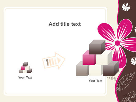 Fuchsia Flower PowerPoint Template Slide 13
