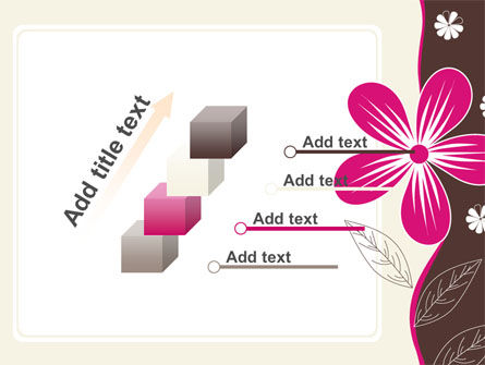 Fuchsia Flower PowerPoint Template Slide 14