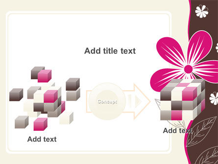 Fuchsia Flower PowerPoint Template Slide 17