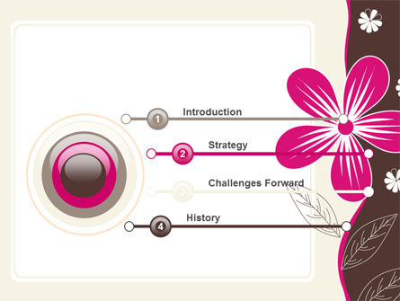 Fuchsia Flower PowerPoint Template, Slide 3, 07364, Abstract/Textures — PoweredTemplate.com