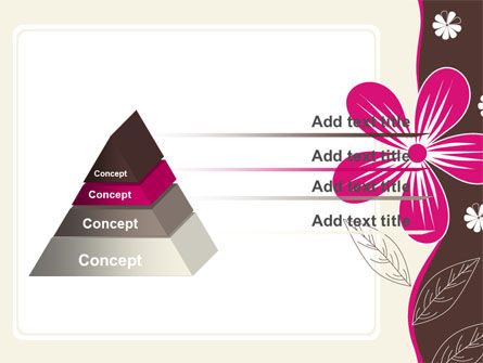 Fuchsia Flower PowerPoint Template, Slide 4, 07364, Abstract/Textures — PoweredTemplate.com