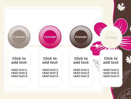 Fuchsia Flower PowerPoint Template Slide 5