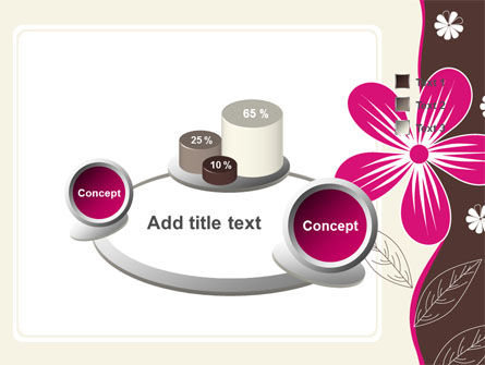 Fuchsia Flower PowerPoint Template Slide 6
