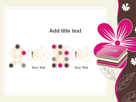 Fuchsia Flower PowerPoint Template Slide 9
