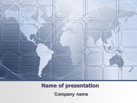 World Communication Routes PowerPoint Template, 07365, Careers/Industry — PoweredTemplate.com