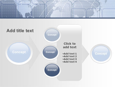World Communication Routes PowerPoint Template Slide 17