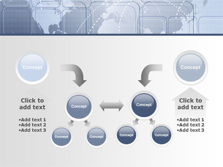 World Communication Routes PowerPoint Template Slide 19