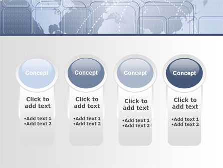 World Communication Routes PowerPoint Template Slide 5