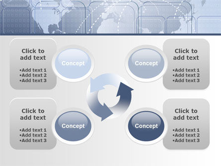 World Communication Routes PowerPoint Template Slide 9
