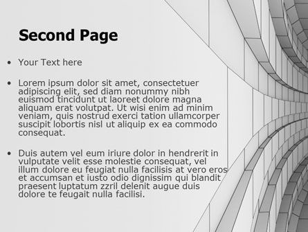 Gray Turn PowerPoint Template, Slide 2, 07366, 3D — PoweredTemplate.com