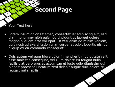New Year Keyboard PowerPoint Template Slide 2