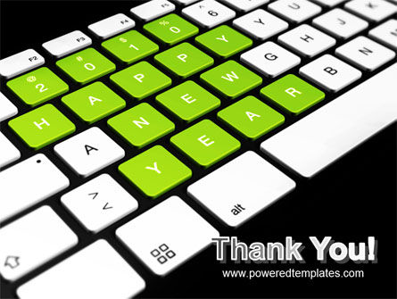 New Year Keyboard PowerPoint Template Slide 20