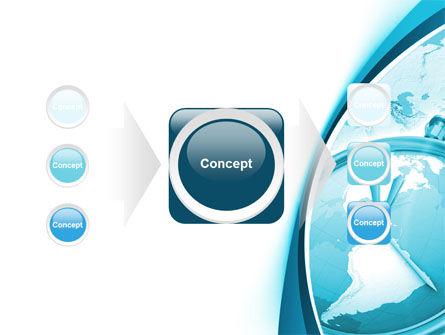 Clock Aqua Free PowerPoint Template Slide 17