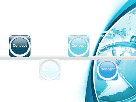 Clock Aqua Free PowerPoint Template Slide 19