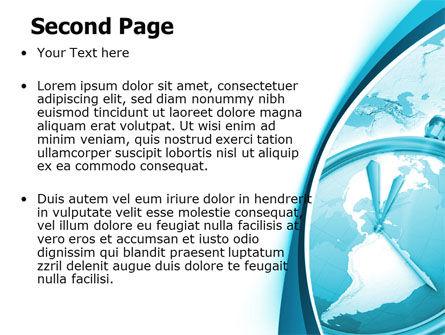 Free Clock Aqua PowerPoint Template Slide 2
