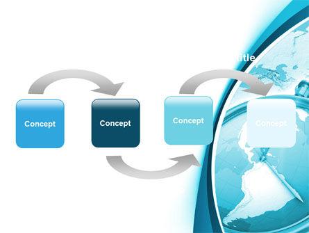 Free Clock Aqua PowerPoint Template Slide 4