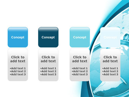 Clock Aqua Free PowerPoint Template Slide 5