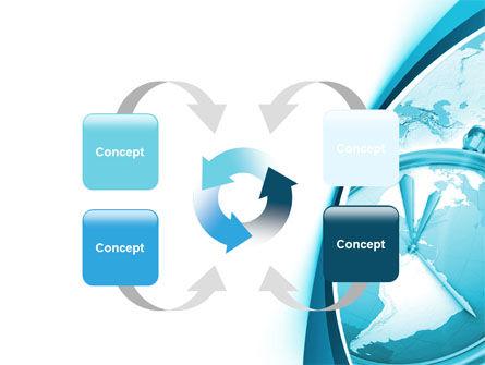 Free Clock Aqua PowerPoint Template Slide 6