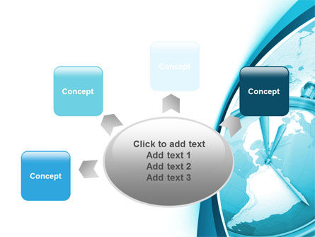 Free Clock Aqua PowerPoint Template Slide 7