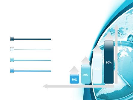Free Clock Aqua PowerPoint Template Slide 8