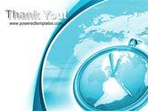 Clock Aqua Free PowerPoint Template#20