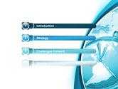 Clock Aqua Free PowerPoint Template#3