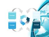 Clock Aqua Free PowerPoint Template#6