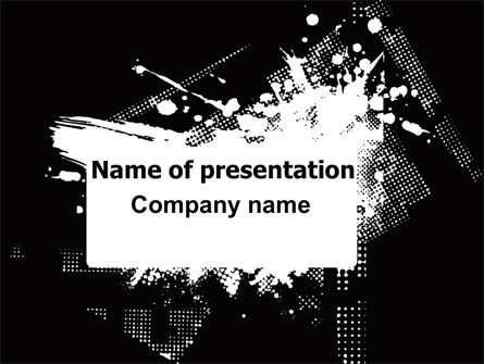 Dark Grunge Theme PowerPoint Template