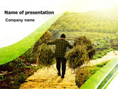 Agriculture: Peasant PowerPoint Template #07372