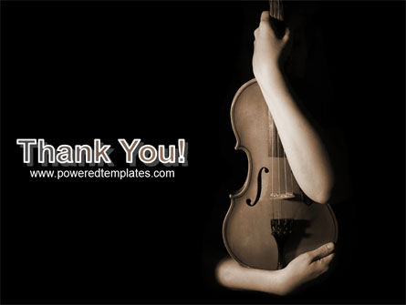 Violin In Lady's Hands PowerPoint Template Slide 20