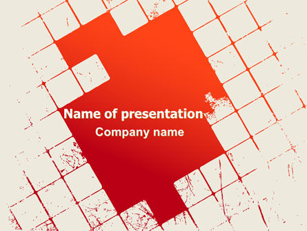 Red Squared PowerPoint Template, 07377, Abstract/Textures — PoweredTemplate.com