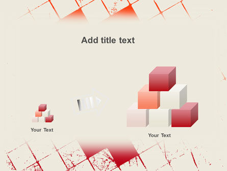 Red Squared PowerPoint Template Slide 13