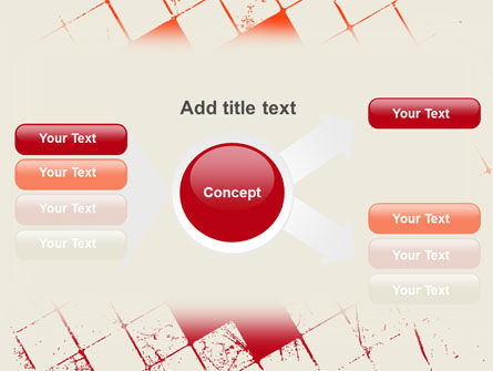 Red Squared PowerPoint Template Slide 15