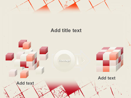 Red Squared PowerPoint Template Slide 17