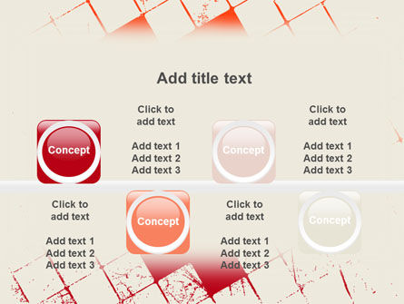 Red Squared PowerPoint Template Slide 18