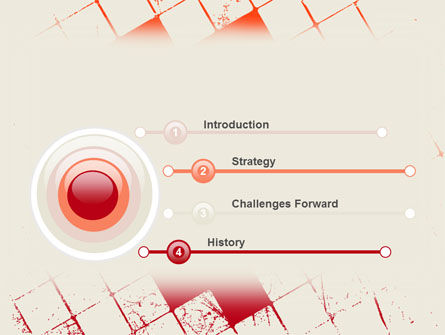 Red Squared PowerPoint Template Slide 3