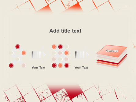 Red Squared PowerPoint Template Slide 9