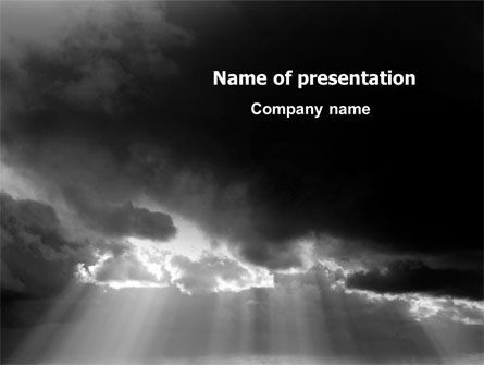 Nature & Environment: Stormy Clouds PowerPoint Template #07378