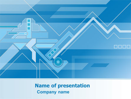 Abstract Technological PowerPoint Template, 07379, Business — PoweredTemplate.com
