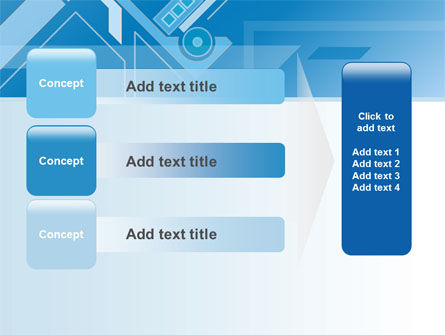 Abstract Technological PowerPoint Template Slide 12