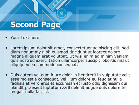 Abstract Technological PowerPoint Template Slide 2