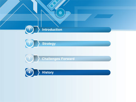 Abstract Technological PowerPoint Template Slide 3