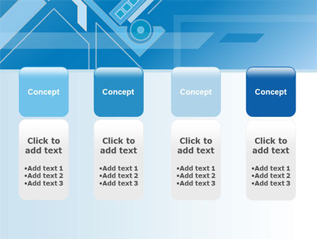 Abstract Technological PowerPoint Template Slide 5