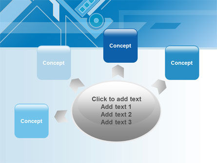 Abstract Technological PowerPoint Template Slide 7