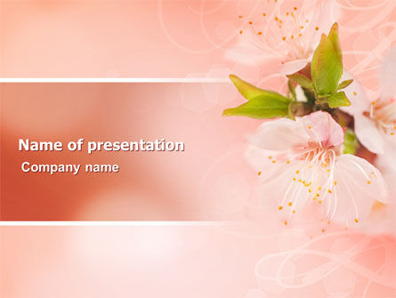 Nature & Environment: Peach Colored PowerPoint Template #07380