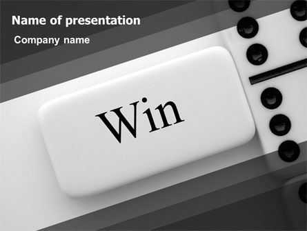 Win Domino PowerPoint Template, 07382, Business Concepts — PoweredTemplate.com